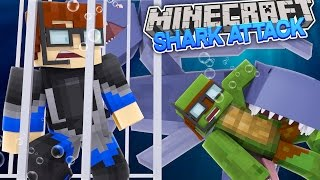 Minecraft JAWS CITY - THE TSUNAMI HITS THE CITY WITH SHARKS !!! w/ Little Lizard