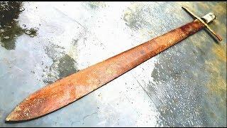 Restoration legendary sword Excalibur | Restore ancient weapon old rusty