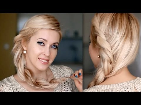 Everyday hairstyle for long hair: twisted rope braid tutorial inspired by Rihanna