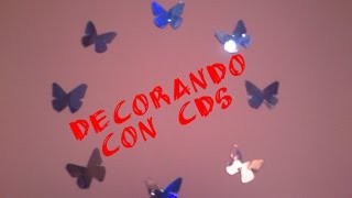 Wall art con Cd´s Mariposas decorativas