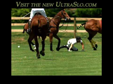 Man falls off Polo pony in slow motion, ouch 3000FPS - UltraSlo