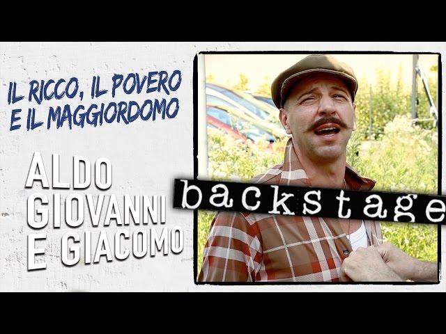 Il venditore ambulante - Backstage da Il Ricco, il Povero e il Maggiordomo