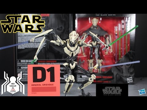 "Star Wars Black Series GENERAL GRIEVOUS Deluxe 6"" Figure Review"