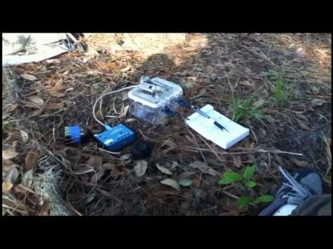 Using the Weber MTR Ham radio while camping.
