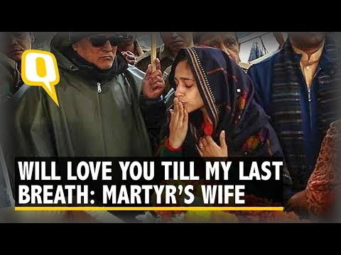 "You're A Brave Man: Slain Major Dhoundiyal's Wife Bids Goodbye With ""Jai Hind"" 