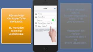 iOS 7 AirPlay butonu nerede?