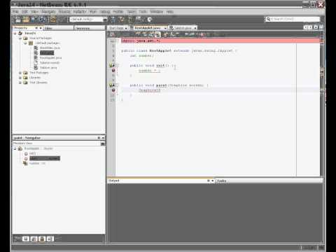 How to create an Applet in Java using NetBeans IDE 6.9.1