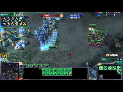 StarCraft 2 - IMMvp [T] vs eXoPolyGon [P] - Commentary