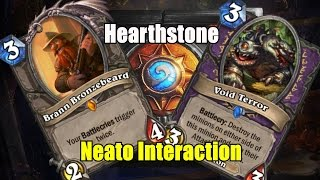 Hearthstone - Interesting Interaction With Brann Bronzebeard and Void Terror