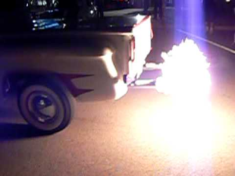 1966 chevy truck flames Video