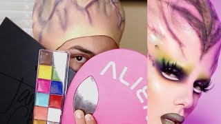 Turning Myself into Jeffree Star's Alien Campaign Look!
