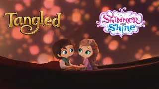Shimmer and Shine Color Episode Disney Tangled Rapunzel and Flynn Ryder