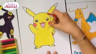 Pokemon Go - Pikachu  - Tô màu Pikachu đáng yêu - Có link download tranh