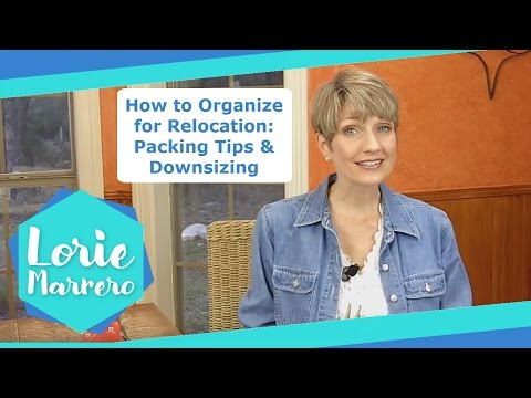 Clutter Video Tip: How to Organize for Relocation: Packing Tips & Downsizing