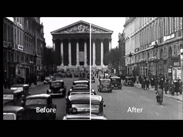 "The World at War ""France Falls"" - restored before & after clip 1"