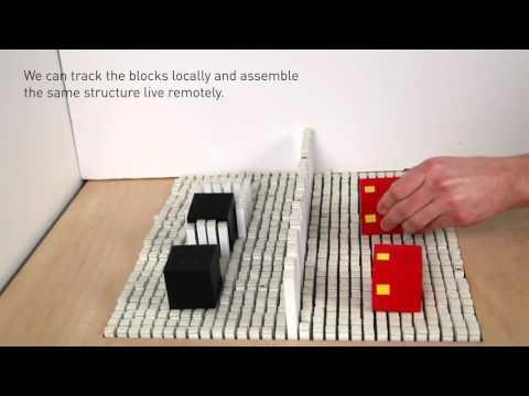 MITメディアラボのブロックを動的に形状を変化させる立体ディスプレイ
