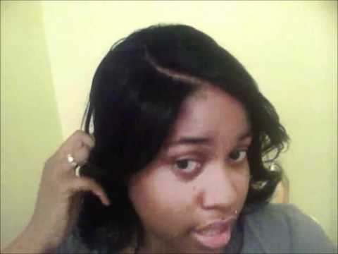 No Glue Invisible Part Sew in weave  Partial Tutorial