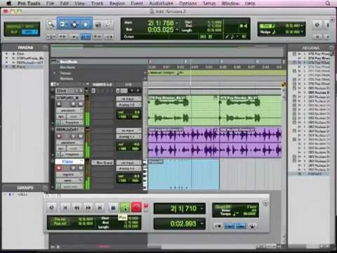 Pro Tools Basics Lesson 6 - MIDI Tracks (6 of 13)