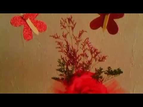 Centros de mesa con mariposas youtube - Baul mesa de centro ...