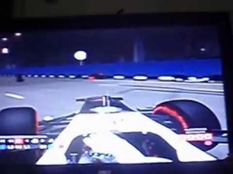 Accidente de Sergio Perez y Felipe Massa en Singapur F1 2012