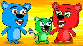 Mega Gummy Bear Meet in Park Full Episodes Cartoon Animation