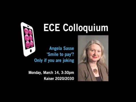 'Smile to Pay'? Only if you are joking with Prof. Angela Sasse