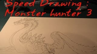Speed Drawing : Monster hunter 3 Lagiacrus
