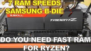 7 RAM Speeds 21 Games Tested on AMD Ryzen.
