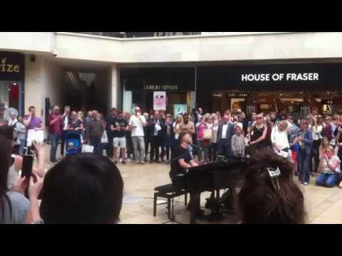 Gary Barlow - surprise performance at Cabot Circus shopping centre