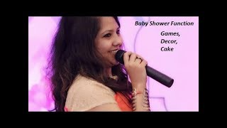 Baby shower party games /Anchoring/ Godh bharai/Decoration/ Cake/ VLog/ Creative Apurva Jain