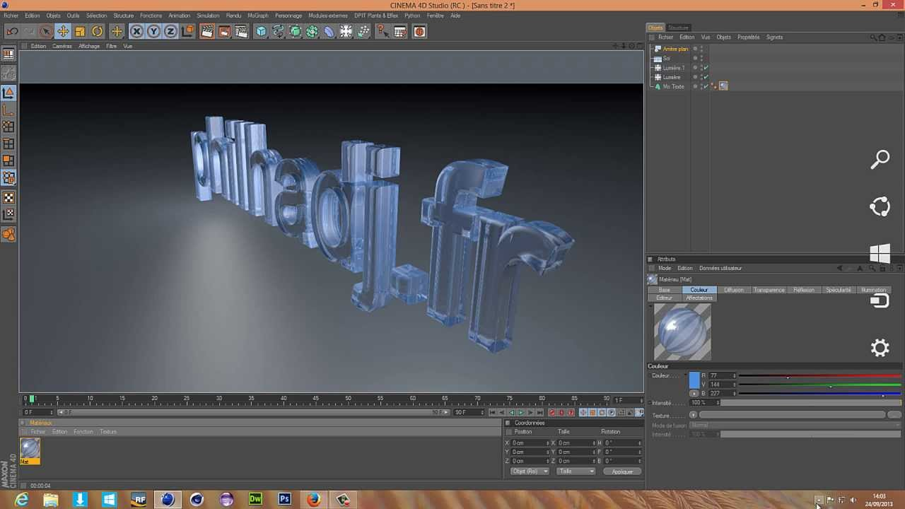 how to add texture in cinema 4d