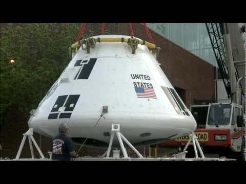 New NASA capsule tested in flight arrives at museum