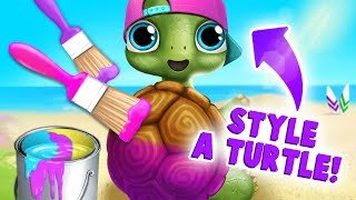 Tiny Turtle Care & Style Makeover! Baby Animal Hair Salon 3 | TutoTOONS Cartoons & Games for Kids