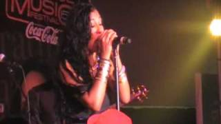 """Melanie Fiona performs Live a snippet """"You Stop My Heart"""""""