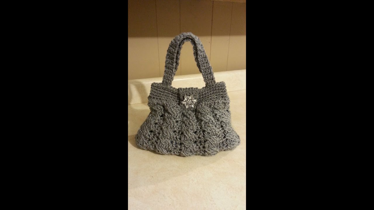 Crochet Bags And Purses Tutorial : Crochet Arabel Cable Stitch Handbag Purse #TUTORIAL DIY crochet purse ...