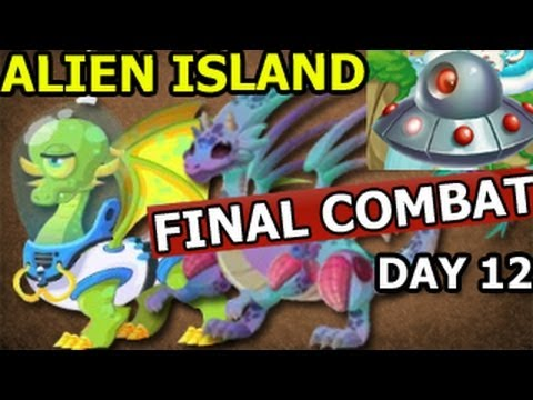 Watch Dragon City ALIEN ISLAND Space Trip and FINAL COMBAT Mars and Alien Dragon Day 12