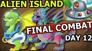 Dragon City ALIEN ISLAND Space Trip and FINAL COMBAT Mars and Alien Dragon Day 12