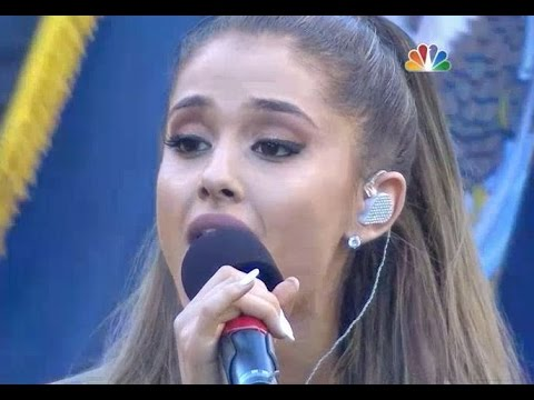 Ariana Grande Performing The National Anthem At The Seattle Seahawks Game - Nfl Football [hd] video