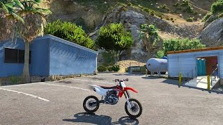 Grand Theft Auto 5 - Honda CRF450 Dirtbike Mod! GTA 5
