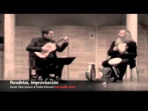 Paradetas, Gaspar Sanz, Xavier Díaz-Latorre baroque guitar and Pedro Estevan percussion