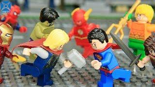 LEGO Avengers vs Justice League Vol 5 ► Wonder Woman vs Iron Man 🔥 Xeay Brick Films
