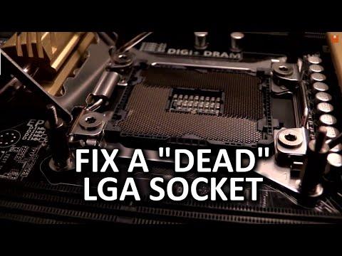 """LGA 2011 Socket Pin Repair Vlog - Fix a """"Dead"""" Motherboard"""