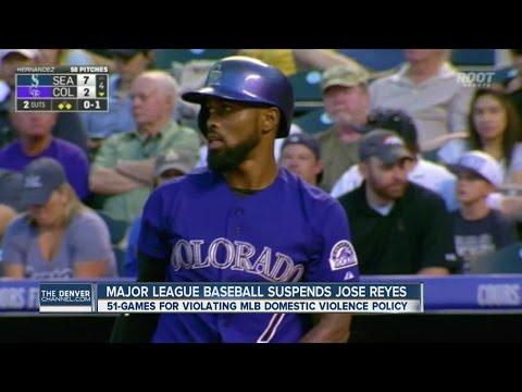 Major League Baseball suspends Rockies shortstop Jose Reyes