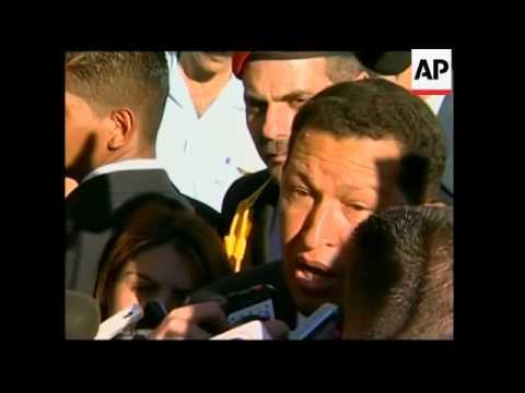 Venezuelan President Chavez meets Argentine counterpart