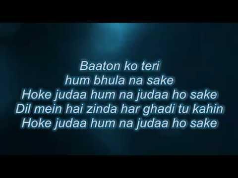 Baaton ko teri full song with lyrics~ALL IS WEEL~ARJIT SINGH