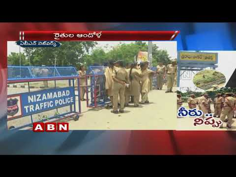 Farmers Protest in Nizamabad,Demands to Release Sri Ram Sagar Water | ABN Telugu