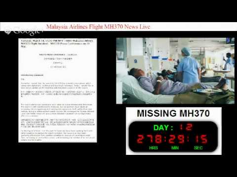 Malaysia Airlines Flight MH370 News Live (19/3/2014)