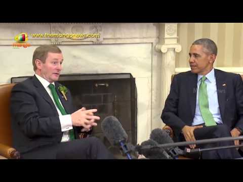 Ireland PM Enda Kenny Meets President Obama During US Visit For St Patrick's Day | Mango News