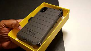 """Best """"RUGGED"""" Case Otterbox Defender- iPhone XS Max + Installation Tips"""