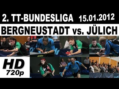 2.TT-BL: 15.01.2012 (01/09) A1-B1 Jonathan Groth vs. Ricardo Walther  - Table Tennis Tischtennis